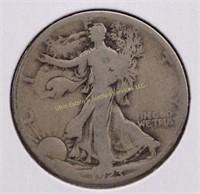 1923-S WALKING LIBERTY SILVER HALF DOLLAR
