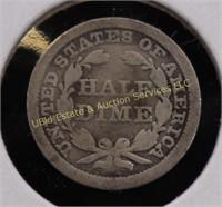 1857 SEATED LIBERTY SILVER HALF DIME