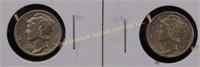 1935/43-O MERCURY SILVER DIMES