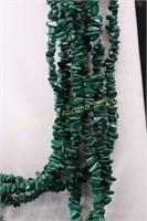 GREEN STONE MULTI STRAIN NECKLACE