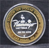 LIMITED EDITION SILVER $10 GAMING TOKEN