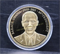 AMERICAN MINT 24kt LAYERED PRESIDENT OBAMA COIN
