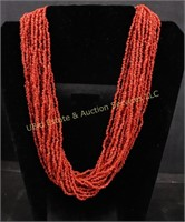 RED STONE STATEMENT NECKLACE