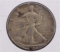 1937-D WALKING LIBERTY SILVER HALF DOLLAR