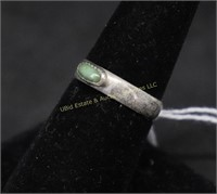 STERLING SILVER TURQUOISE RING SZ. 7