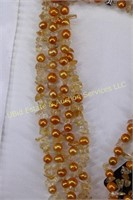 GORGEOUS ORANGE PEARL NECKLACE