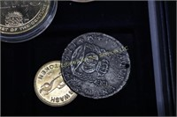 MISC COINS AND MORE INCLUDING ELVIS PRROF COIN