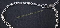 """STERLING SILVER ANKLET  UP TO 10""""L"""