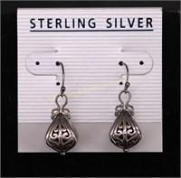 ORNATE DANGLE STERLING SILVER EARRINGS