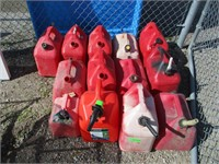 13) Gas Cans, Variety in Size