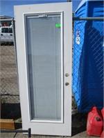 Door with Blinds Inside Glass