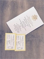 Inauguration Tickets for President Elect Trump