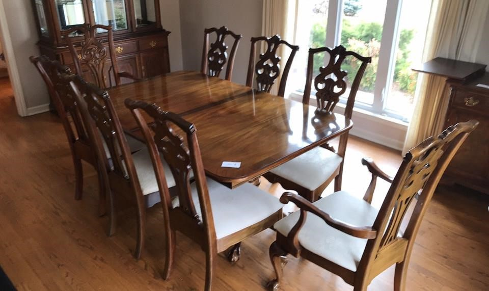 American Drew Dining Room Table w/ 8 Chairs | Generations ...