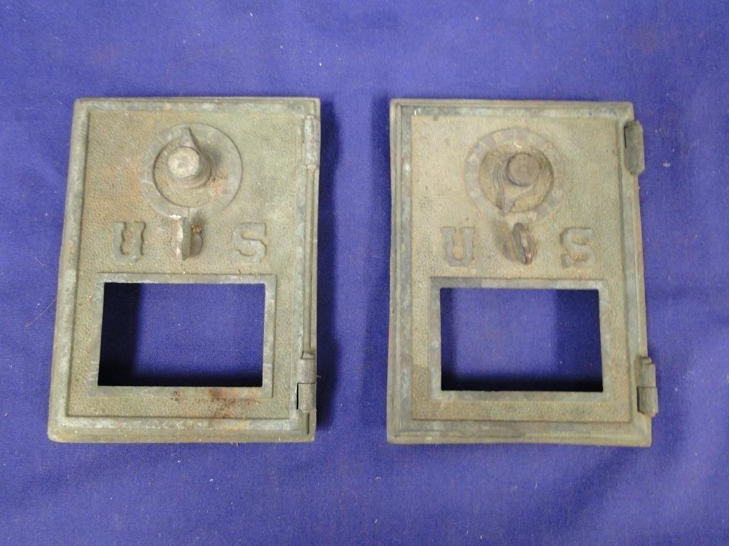 Vintage Brass Post Office Box Doors   LL Auctions LLC