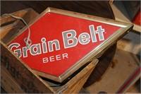 Grain Belt lighted beer sign