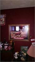 budweiser mirror framed deer picture