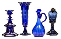 Sample of a wide variety of 19th century blown and pressed glass