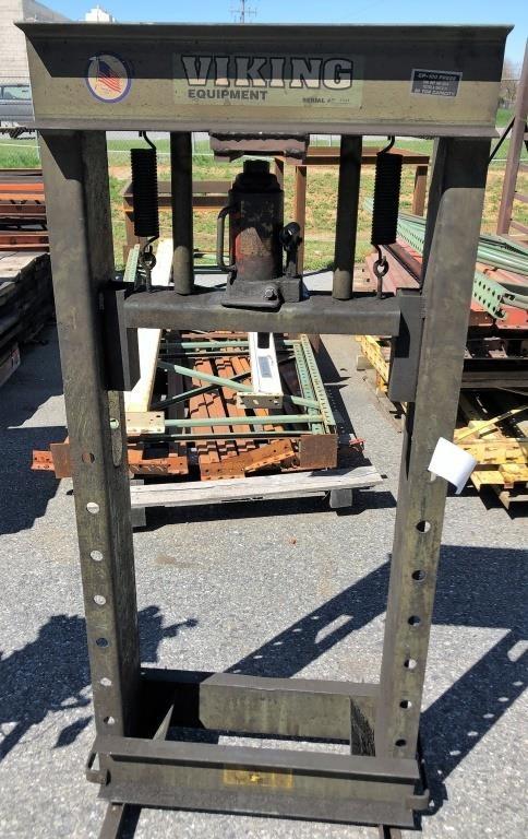 Viking Equipment CP-100 30T Shop Press | Pa Auction Center