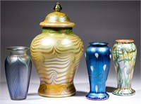 American art glass including a rare Durand examples