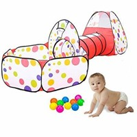 """""""As Is"""" KINDEN Kids Play Tunnel Tent with Ball"""