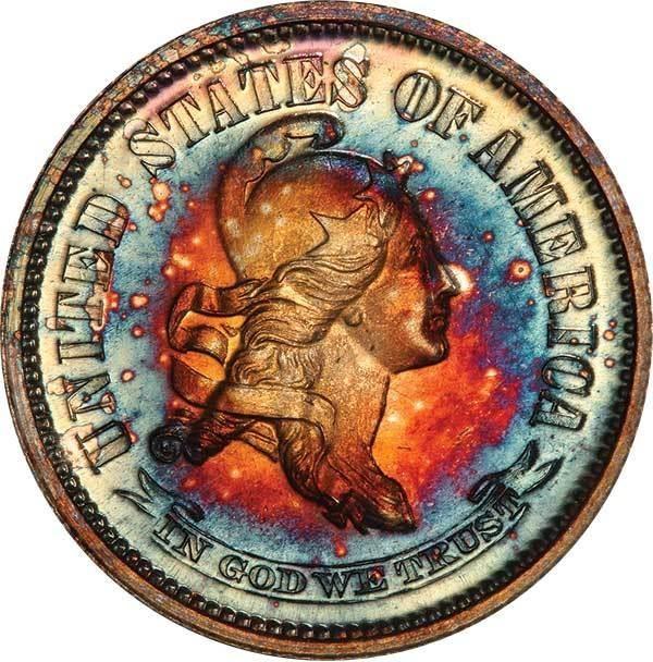 10C 1870 J-855 PCGS PR66 CAC EX SIMPSON | Legend Rare Coin