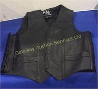 FMC Leather Vest Size 44