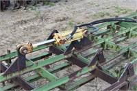 Cultivator, JD; 12 row, T-bar, 3 pt, hydr fold