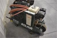 Air Compressor, Rolair; Honda GX200 gas motor,