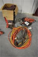 B&D belt sander; Sand paper; Extension cords