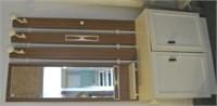 Retro Hall Entrance Mirror & Cupboard