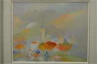 Jacques Moreau Gaudry Oil on Canvas