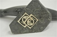 Inuit Dark Soapstone Carving - Mallard