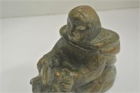 Brown Soapstone Inuit Carving