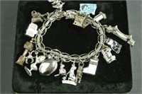 Ladies Sterling Charm Bracelet