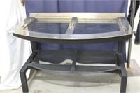 Repurposed Fireplace Insert Table