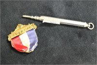 Pencil and Medal