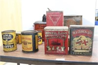 Oil Tea Coffee Tins and Cans