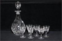 Cut Glass Liqueur Set