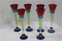 Set of Tall Glass Flutes