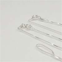 Sterling Silver 2pc - 18 Inch Chains