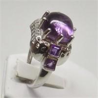 Natural Amethyst Gemstone Ring