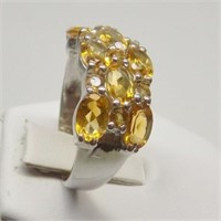 Natural Citrine Gemstone Ring