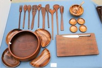 Wooden Serving Sets and Utensils