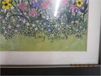 """Lucy Ogletree Folk Art """"The Flower Shop"""""""