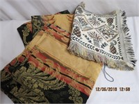 """2 55 X 96"""" table cloths and a table runner"""