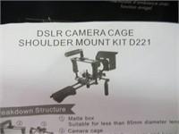 DSLR CAMERA CAGE SHOULDER MOUNT KIT D221