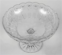 Bohemia Pedestal Crystal Bowl with Plate