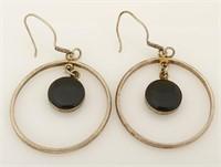 Turquise Obsidian Drop Earrings