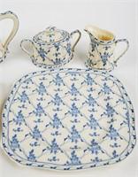 Rose Brocade Partial Tea Set
