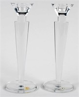 Durand Crystal Candle Holders